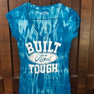 Tops - Beautiful blue & white Ford T shirt